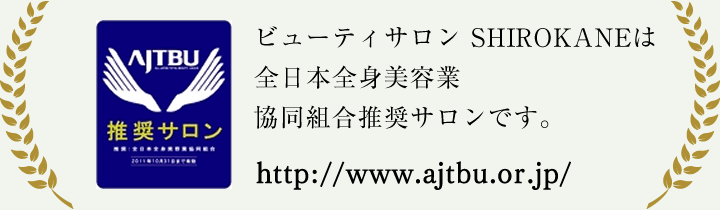 ハノハノグループは全日本全身美容業協同組合推奨サロンです。
